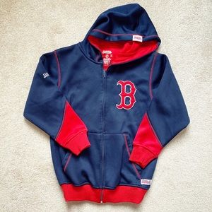 Navy blue & red Boston Red Sox zippered hoodie